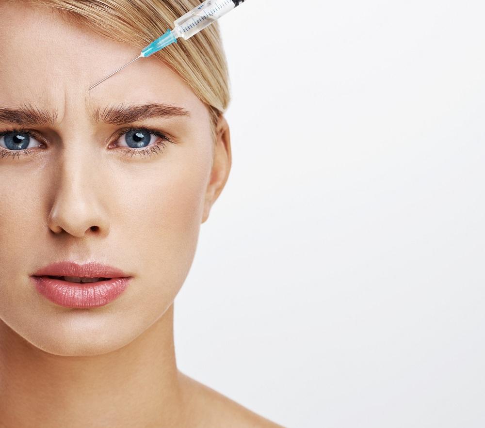Fjerne sinnarynke med botox